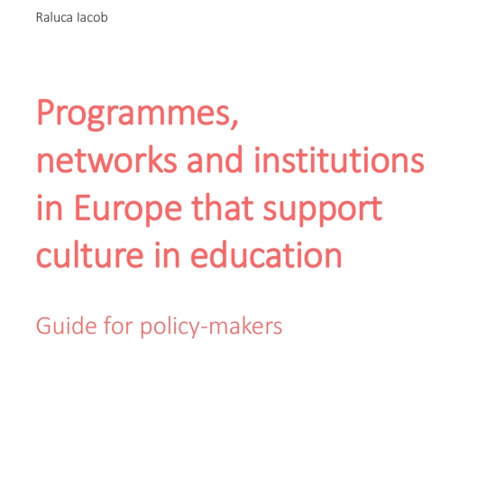 Programmes,  networks and institutions  in Europe that support  culture in education. Guide for policy-makers