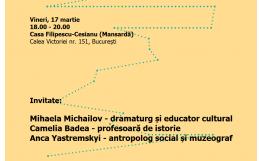 Întâlnire Cultura în educație – Istorii în Istorie. 17.03.2017   18.00   Casa Filipescu-Cesianu, București