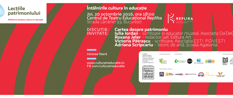 """Întâlnire """"Cultura în educație"""": Cartea despre patrimoniu pentru copii"""