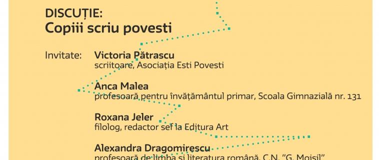 Întâlnire Cultura în educație –  Copiii scriu povești. 27.04.2017 | 18.00 | Muzeul Național al Hărților și Cărții Vechi, București