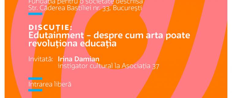 """Întâlnire """"Cultura în educaţie"""": Edutainment – despre cum arta poate revoluționa educația"""