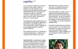 """Raportul întâlnirii """"Despre joc: din culisele proiectelor culturale educaționale pentru copii"""". Invitată: Valentina Bâcu"""